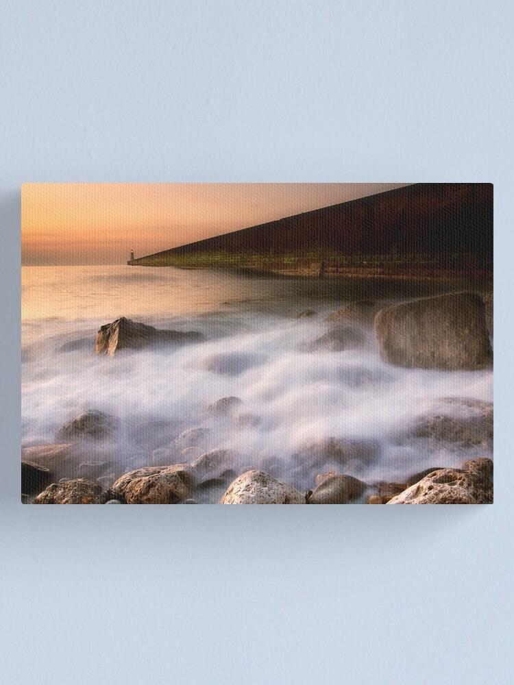 Alternate view of Tynemouth Pier Canvas Print