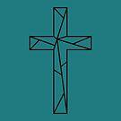 Geometric Cross // Jesus Cross Art by Kelsorian