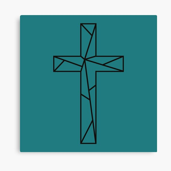 Geometric Cross // Jesus Cross Art Canvas Print