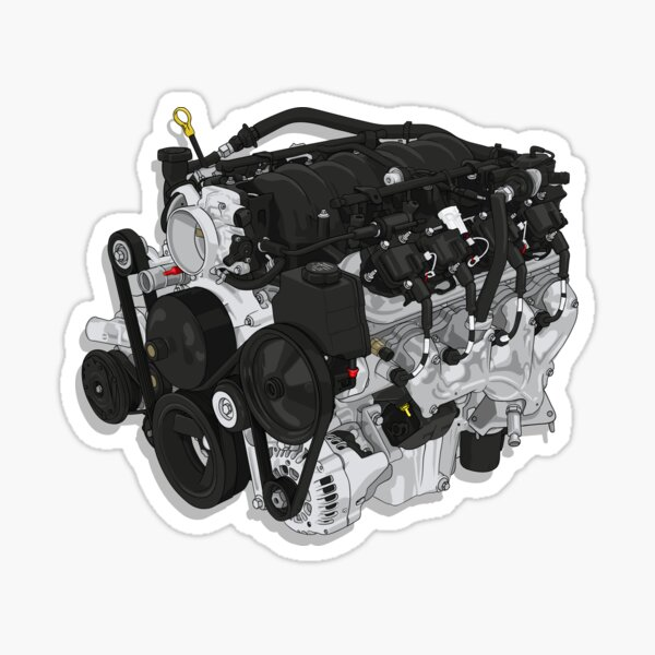 LS1 V8 Engine  Sticker