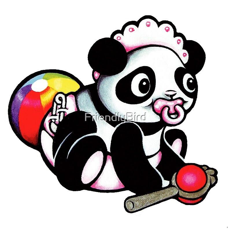 Panda girl by FriendlyBird