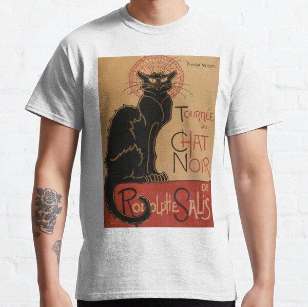 Vintage Art Nouveau Le Chat Noir Black Cat  Classic T-Shirt