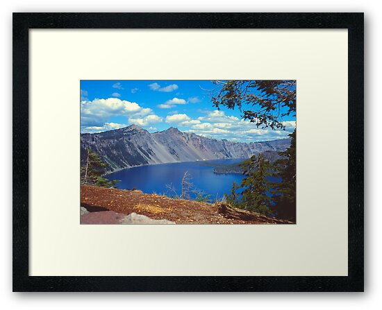 Clouds over Crater Lake 1979 by Priscilla Turner
