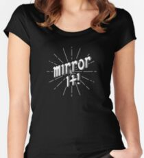 Mirror It! - White Print Version Fitted Scoop T-Shirt