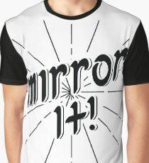 Mirror It! - Black Print Version Graphic T-Shirt