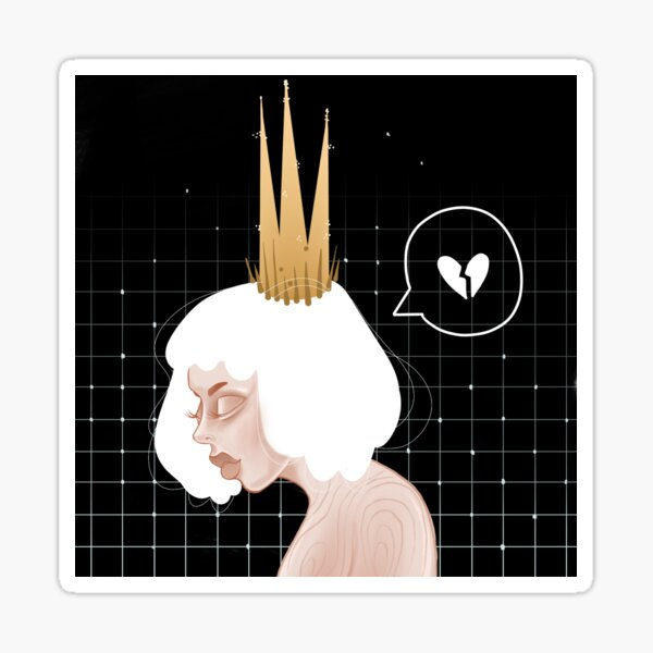 Broken Heart Queen Sticker