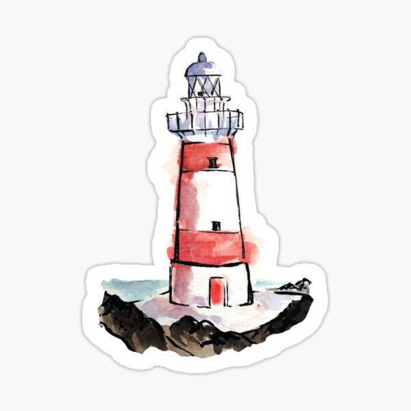 Watercolor Light House Sticker