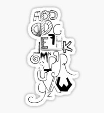 typography Sticker