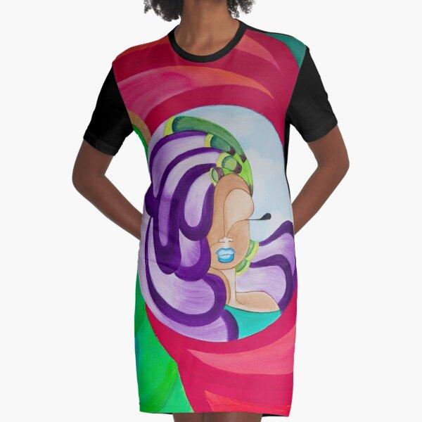 VICTORIA PEACOCK Graphic T-Shirt Dress