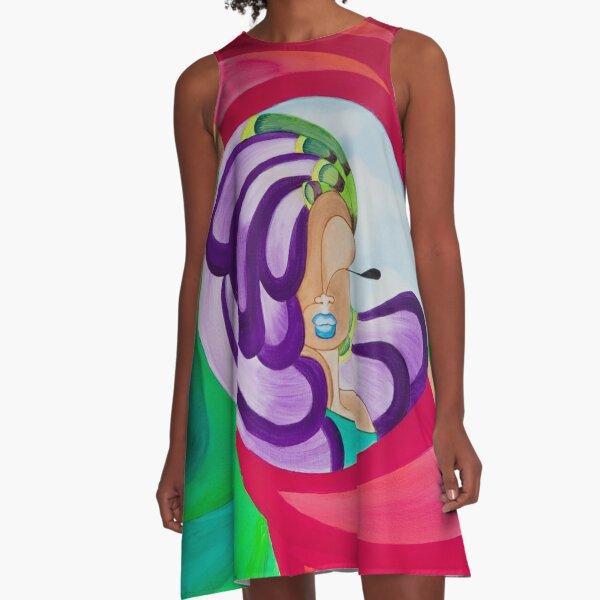 VICTORIA PEACOCK A-Line Dress