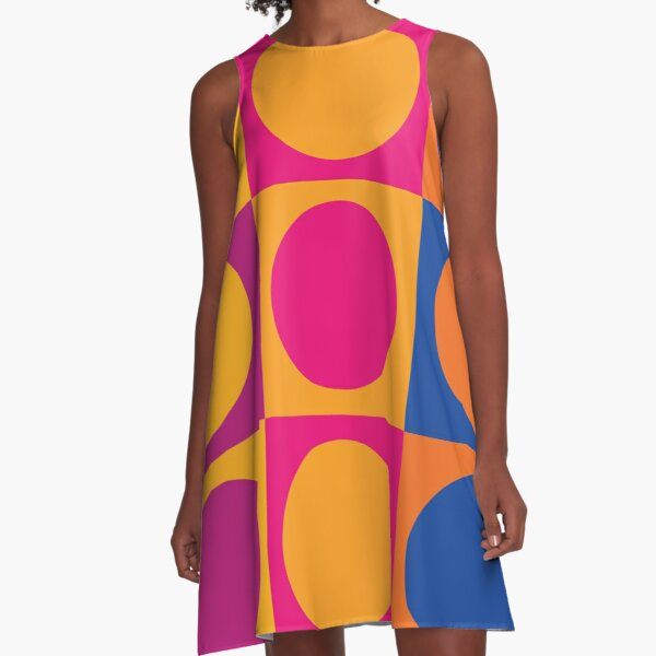 Retro 60s Mod Pattern A-Line Dress