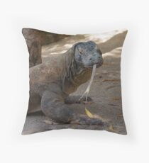 I have a long tongue! Throw Pillow