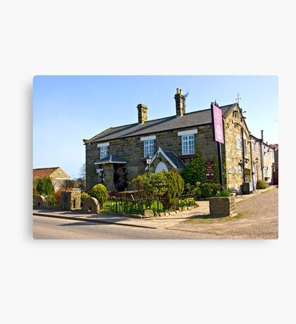 The Water Wheel Inn - Liverton Canvas Print