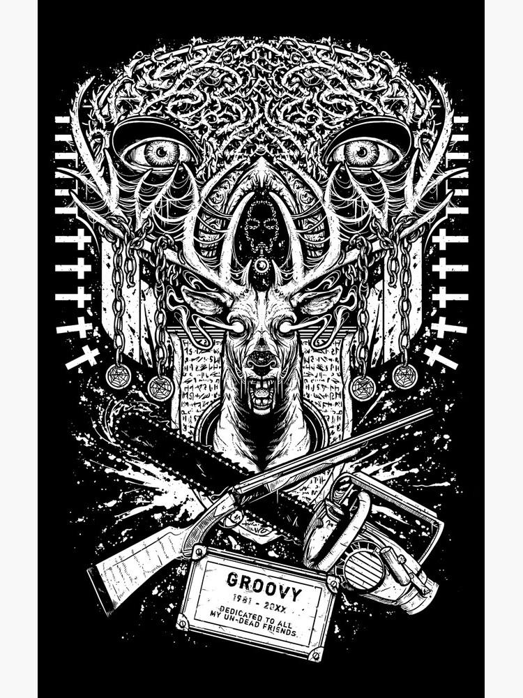Evil Dead - Groovy T-shirt - Ash by k2lu533