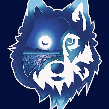 Wolf Head | Moonlight Water by wfultzdesigns
