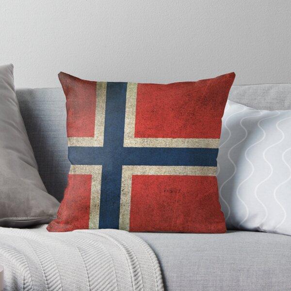 Norwegian Flag Pillows Cushions Redbubble