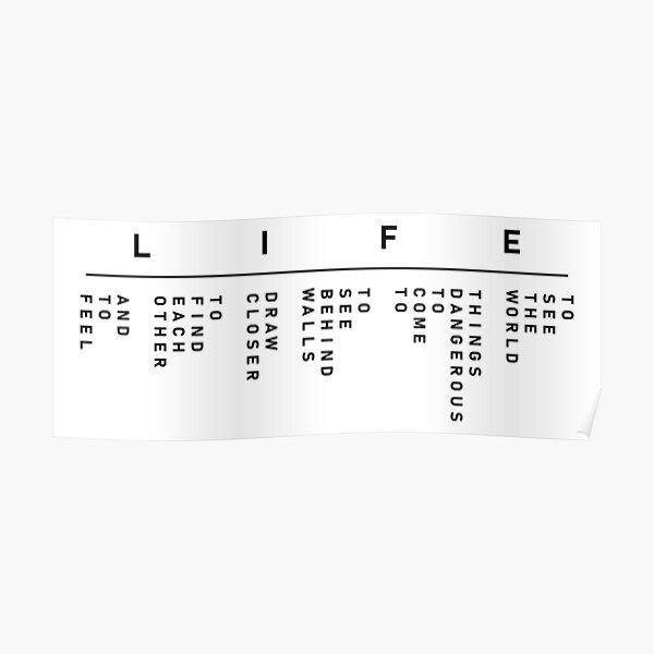 La vie secrète de Walter Mitty - La devise de LIFE (Version du logo) Poster