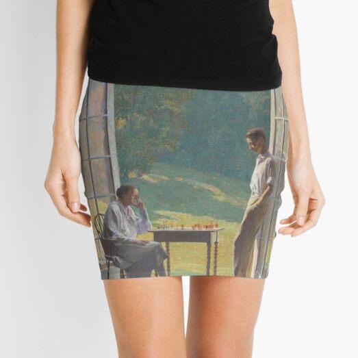 #people #adult #two #furniture window seat vertical men women day clothing Mini Skirt