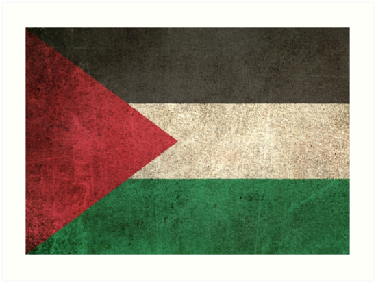 Old and Worn Distressed Vintage Flag of Palestine by jeff bartels