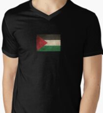 Old and Worn Distressed Vintage Flag of Palestine T-Shirt