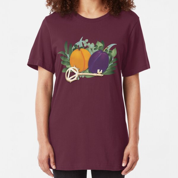 Peaches and Plums Slim Fit T-Shirt