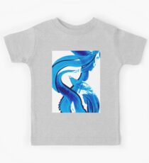 Pure Water 302 - Blue Abstract Art By Sharon Cummings Kids Tee