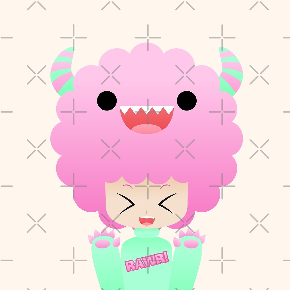 Monster afro girl by kittybox