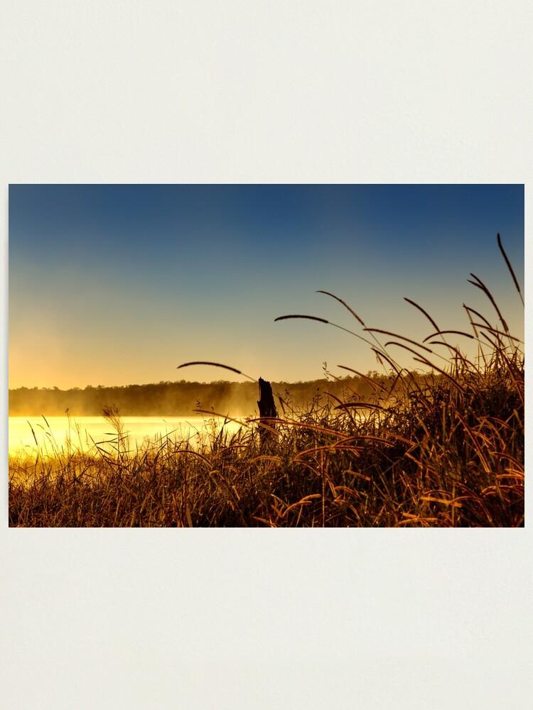 Alternate view of Misty morning sunrise Photographic Print