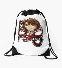 Big Head Chibi Scorpio Drawstring Bag