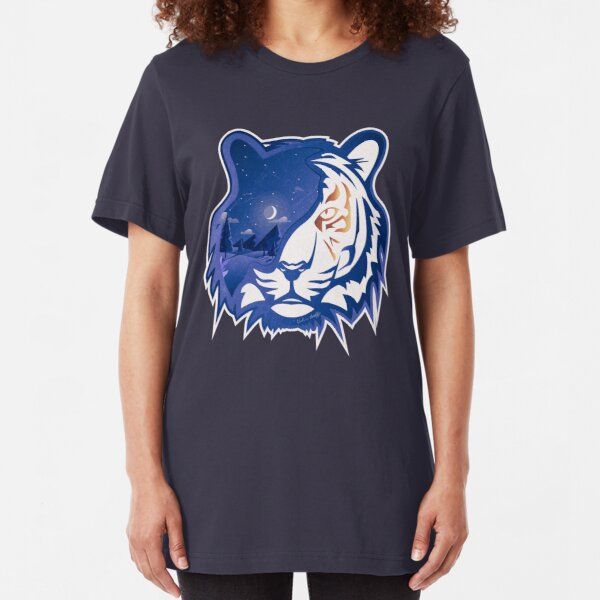 Tiger Head | Crescent Moonlight Slim Fit T-Shirt