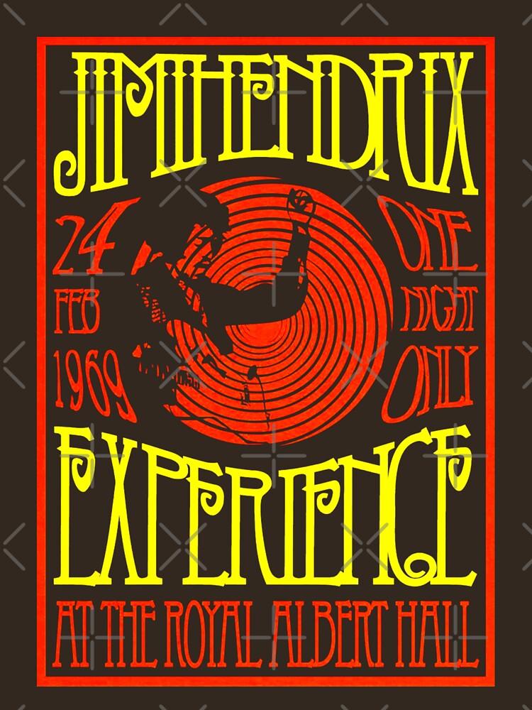 Jimi - Vintage Hendrix Retro Konzert von threeampersands