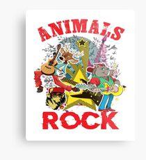 Animals Rock Metal Print