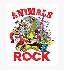 Animals Rock Photographic Print