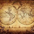 Antique Map - The World by Fjfichman