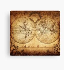Antique Map - The World Canvas Print