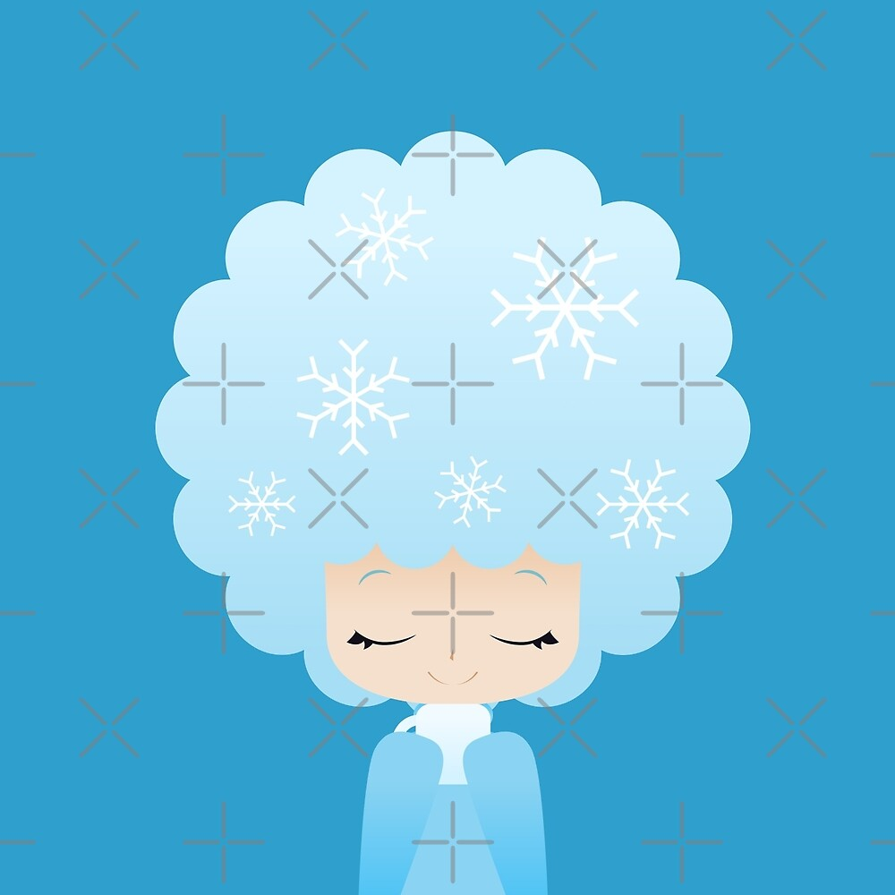 Winter afro girl by kittybox