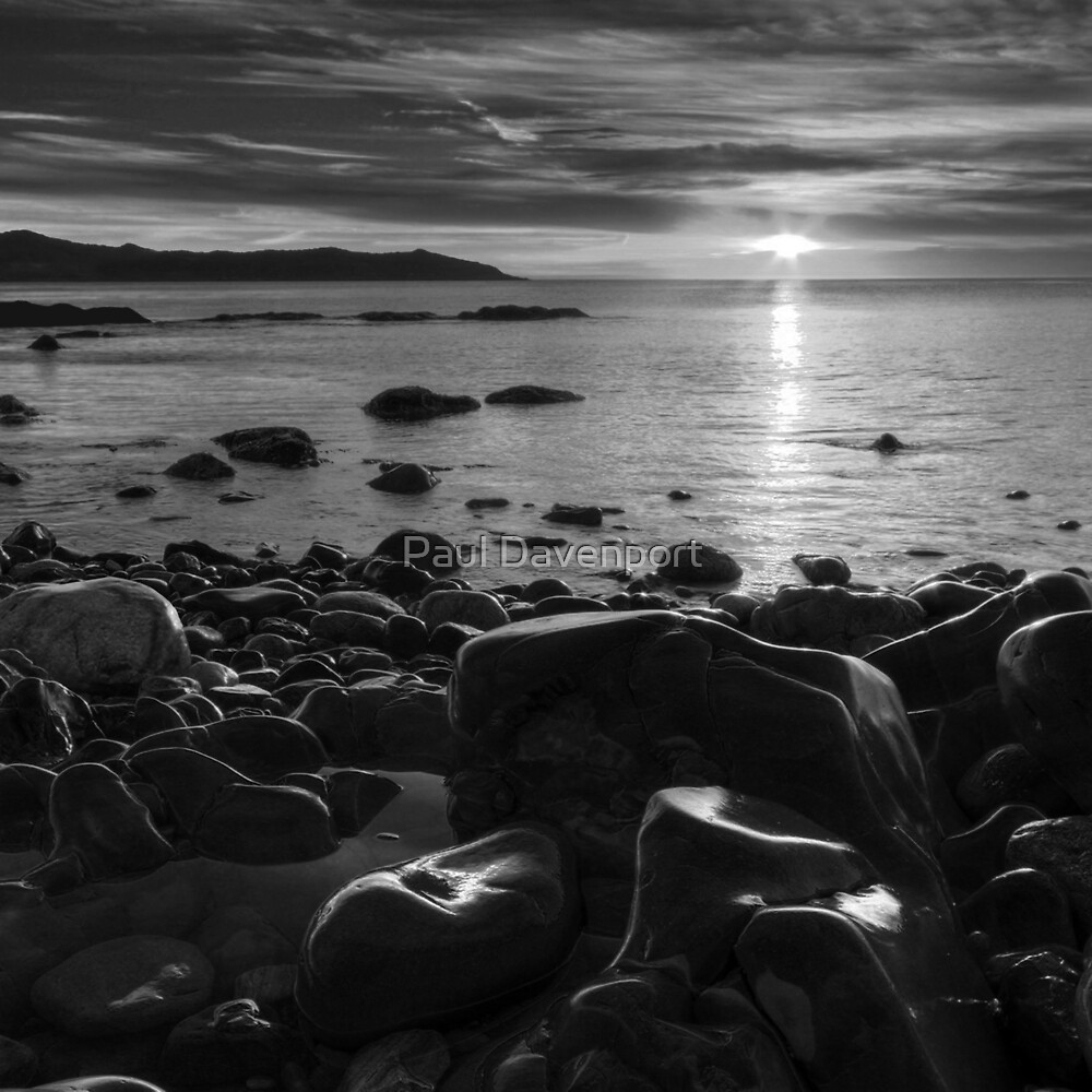 Maughold beach sunrise - photography by Paul Davenport