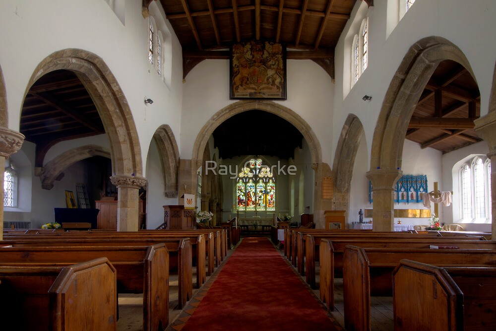 Inside All Saints Misterton by Ray Clarke