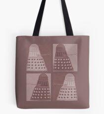 Daleks in negatives - brown Tote Bag