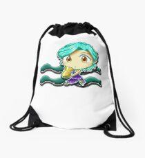 Big Head Chibi Aquarius Drawstring Bag