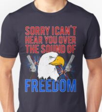 My Freedom America Guns Bald Eagles Fireworks T-Shirt