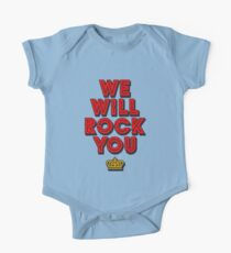WE WILL ROCK YOU, popart colors digital ART by Iona Art Digital Short Sleeve Baby One-Piece