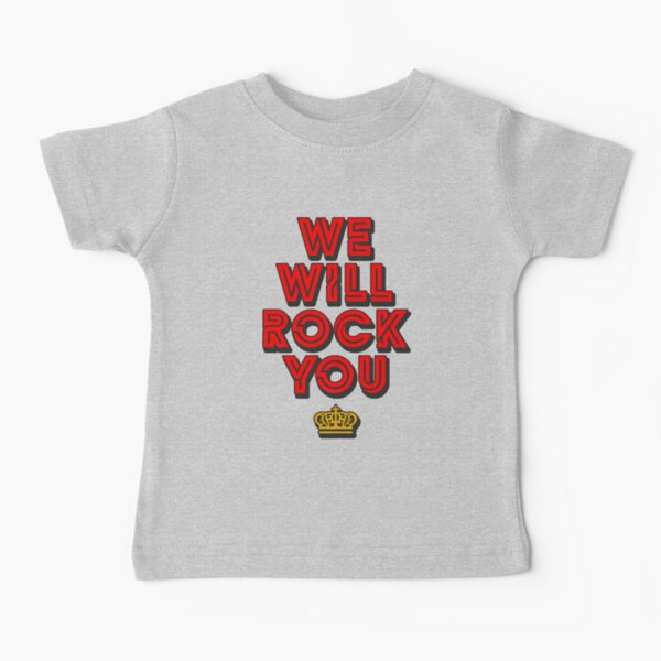 WE WILL ROCK YOU, popart colors digital ART by Iona Art Digital Baby T-Shirt