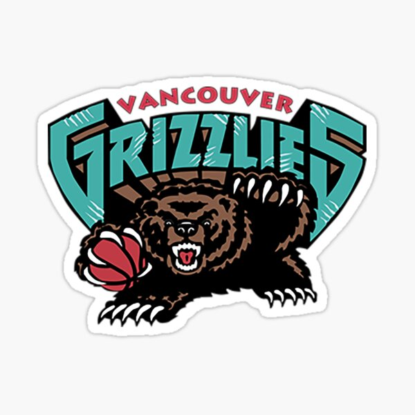 Vancouver Grizzlies Logo Sticker