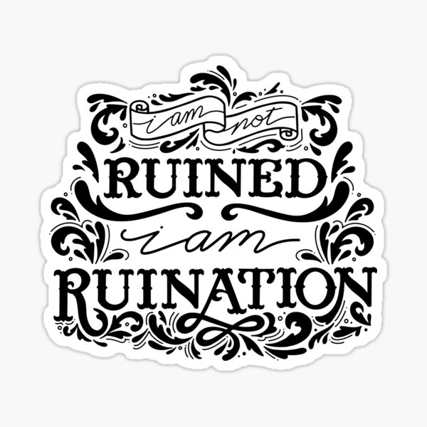 Grishaverse Genya Ruined Ruination Sticker