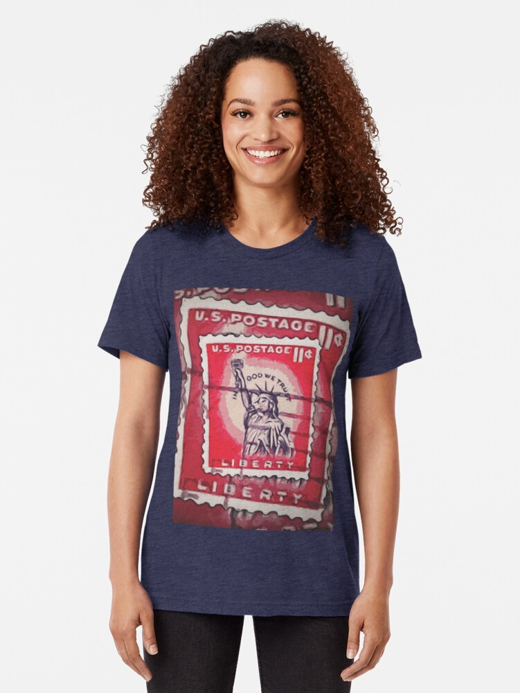 Alternate view of Stamp of Liberty Tri-blend T-Shirt