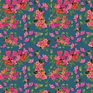 April blooms(Bougainvillea_blue)  by Kanika Mathur  Design