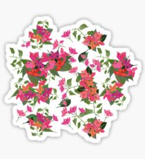 April blooms(Bougainvillea_blue)  Sticker