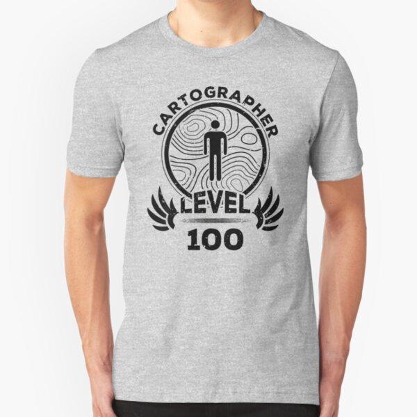 Kartograph Mapmaker-Geschenk der Stufe 100 Slim Fit T-Shirt
