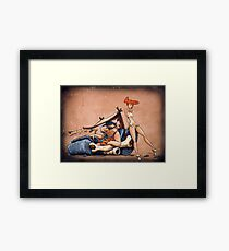 The Flintstones go Lowbrow Framed Print